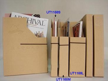盒设计的 雷射牛皮       色标签贴纸,可配合档案盒贴於背脊处或正面